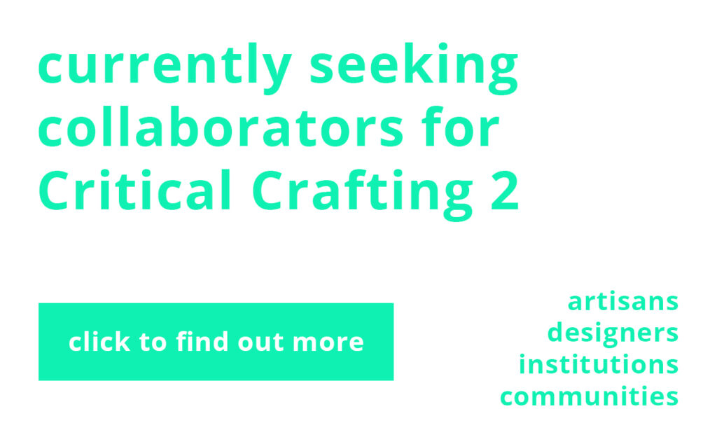 currently seeking collaborators for critical crafting 2 click to find out more
